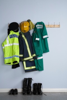 Hanging Uniforms of Safety Professional
